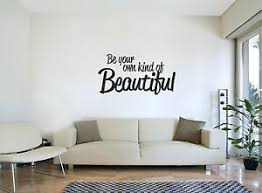Be Your Own Kind Of Beautiful Wall Sticker Inspirational Quote Bedroom Art Decal Ebay