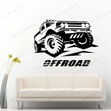Wall Decal Roader Quad Bike Quadrocycle Race Motor Four Wheeler Extreme Sport Bike Racing Rider Yw 266 Wall Stickers Aliexpress