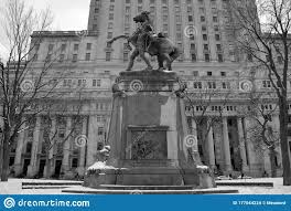 Equestrian Statue Was Sculpted By George W. Hill Editorial Stock ...