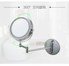 7 inch dual arm extend bathroom mirror