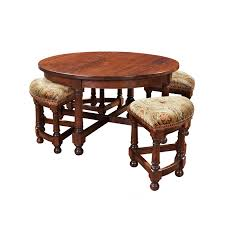 round cocktail table with nesting
