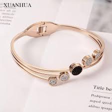xuanhua rose gold women cuff bracelet