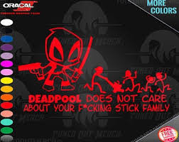 Deadpool Car Decal Etsy