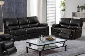 black leather furniture decor