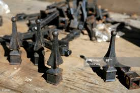 Scrap Wrought Iron Fence And Finials High Res Stock Photo Getty Images