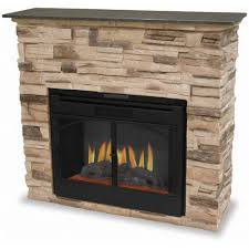 indoor electric fireplace with stacked