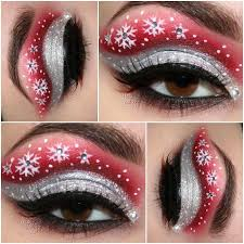 cute eye makeup ideas for christmas by