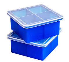 Kelsey Adele King Cube Ice Tray with Lid - Premium Silicone Mold ...