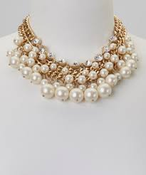 EM Etc. White & Gold Multi-Chain Bubble Necklace | Zulily