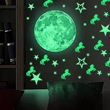 Unicorn Stars Glow In The Dark Wall Stickerswall Decals Kids Bedroom Decor Us