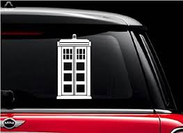 Doctor Who Tardis White 5 Vinyl Decal Buy Online In Bahamas At Desertcart