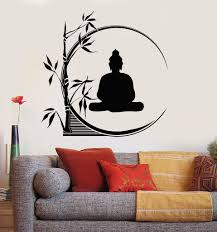 Vinyl Wall Decal Buddha Meditation Circle Yoga Reed Buddhism Stickers Unique Gift Ig3207 Buddha Wall Art Wall Painting Decor Wall Painting