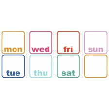 Shop Roommates Rmk3043scs 8 X 8 Days Of The Week Planner Dry Erase Self Adhesive Repositionable Vinyl Wall Decal Set Of 8 Overstock 16081031