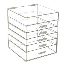 6 drawer clear arylic makeup organiser