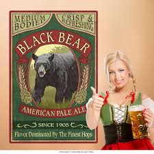 Black Bear American Pale Beer Wall Decal At Retro Planet