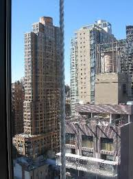view from room window of 6th avenue