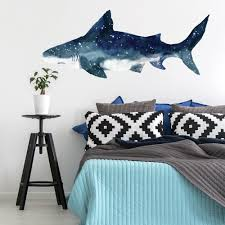 Shark Peel And Stick Giant Wall Decals Roommates Decor