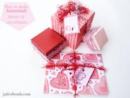 homemade bo and envelopes