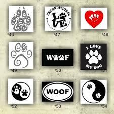 Paw Print Vinyl Decals 46 54 Custom Car Window Stickers Personalized Vinyl Decals Paw Prints Sticker Custom Vinyl Decal Dog Groomin Stuff Windo