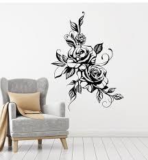 Vinyl Wall Decal Bud Rose Flower Garden Nature Girl S Room Decor Stickers 1206ig