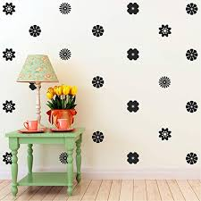 Amazon Com 24 Pack Of Beautiful Flowers Vinyl Wall Art Decal 3 X 3 Bedroom Living Room Wall Decoration Apartment Vinyl Decal Wall Decor Kids Room Vinyl Wall Decals