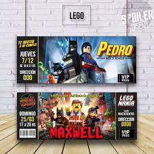 Invitaciones Tarjetas Cumpleanos Batman Lego Comic 6