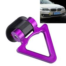 Sunsky Car Truck Bumper Triangle Tow Hook Adhesive Decal Sticker Exterior Decoration Purple