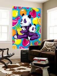 Panda Fruit Wall Mural Lisa Frank Allposters Com