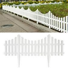 24 In Resin Picket Garden Fence Landscape Border 18 Pack For Sale Online Ebay