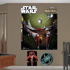 Fathead Star Wars Boba Fett Helmet Wall Mural Star Wars Wall Decal Illustration Wall Mural