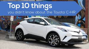 Top 10 things about the #Toyota CHR crossover / suv - YouTube