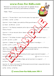 free easter quiz questions for children