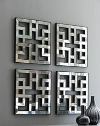 square fretwork wall mirrors modern
