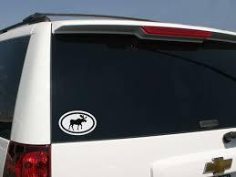 Moose Oval Car Sticker Moose Oval Decal Familystickers Com