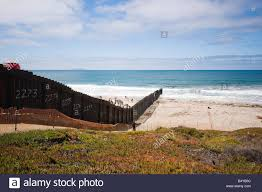 International Border At Border Field State Park In Southern Stock Photo Alamy