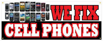 12 We Fix Cell Phones Sticker Cell Phone Tablet Repair Retail Store Sign Ebay