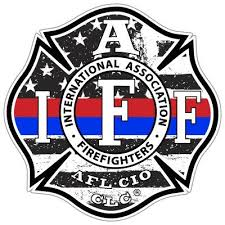 Iaff Thin Red Blue Line Decal Shop Now Firefighter Com Firefighter Emt Thin Blue Line Decal Firefighter