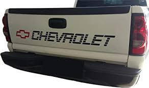 Amazon Com Chevy 1500 Bed Or Window Decal Vinyl Sticker For Windshield Or Side Bed Graphics Chevrolet Silverado Tailgate Lettering Arts Crafts Sewing