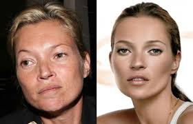 supermodels without makeup or photo