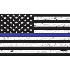5in X 3in Black And White American Flag Blue Lives Matter Sticker Vinyl Decal Walmart Com Walmart Com