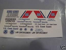 Us Coast Guard Police Car Decals 1 24custom 108263686