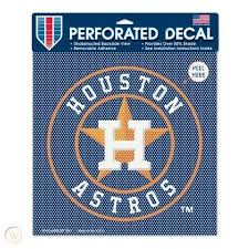 Houston Astros Perforated Car Decal 12 X12 Child Window Shade 2012005542