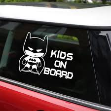 Amazon Com Vylymuses 2 Pack Batman Kids On Board Stickers For Cars Funny Decals Safety Signs 7 48 X5 51 Car Rear Window Door Body Decal Kitchen Dining