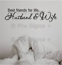 Wall Decal Best Friends For Life Husband And Wife Wedding Etsy