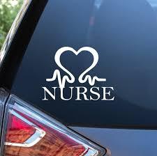 Nurse Nursing Heartbeat Ekg Heart Decal Sticker Nurse Gift Custom Sticker Shop