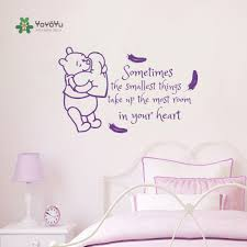 Winnie The Pooh Alphabets Removable Kids Wall Stickers Vinyl Decal Nursery Decor