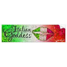 Italian Goddess Princess Diva Italia Italy Glitter Bumper Sticker Zazzle Com