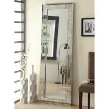 floor mirror with antique silver finish