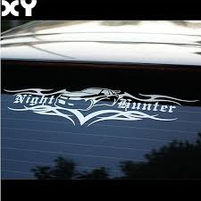 Car Stickers Night Hunter Vinyl Decals Car Modification Stickers For Rear Windshield Front Windshield Drop Shipping Leather Bag
