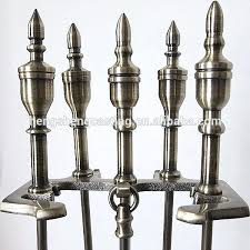 fireplace tools painted wrought iron